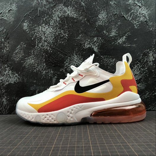 Cheap Wholesale NIKE REACT AIR MAX AQ9087-109 White Gold Red Blanc OR Rouge