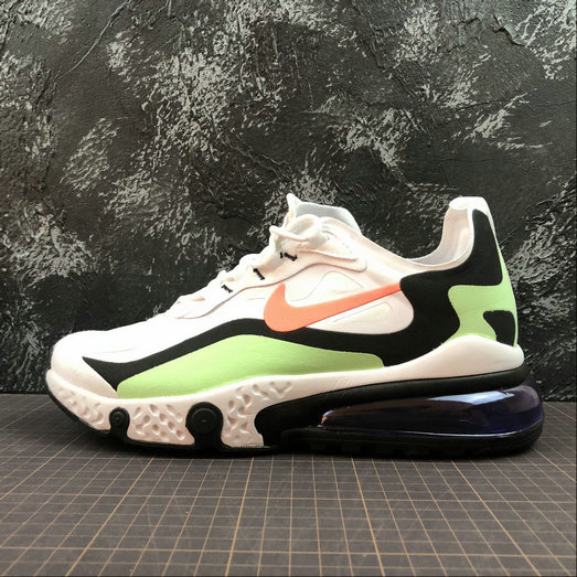Cheap Wholesale NIKE REACT AIR MAX AQ9087-183 White Black L.Green Blanc Noir L.Vert