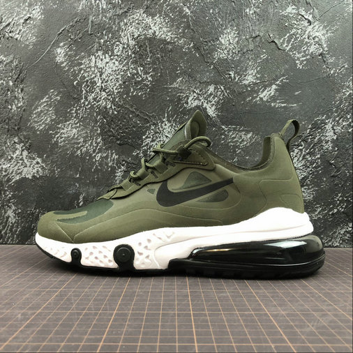Cheap Wholesale NIKE REACT AIR MAX AQ9087-300 Army Green Black Army Vert Noir