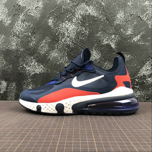 Cheap Wholesale NIKE REACT AIR MAX AQ9087-416 Navy Red Navy Rouge