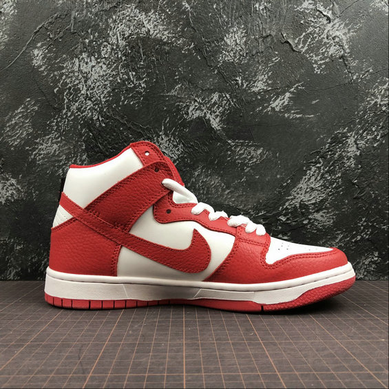 Wholesale Cheap NIKE Sb Zoom Dunk High Pro Womens 854851-661 White Red Blanc Rouge