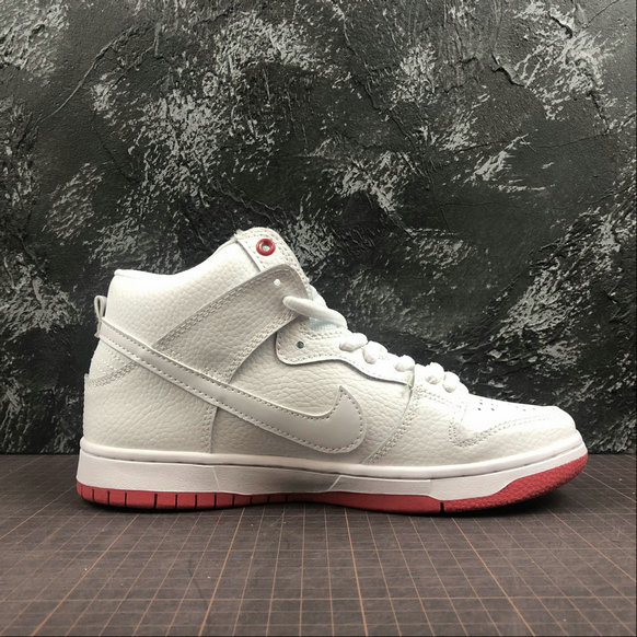 Wholesale Cheap NIKE Sb Zoom Dunk High Pro Womens AH9613-116 White Red Blanc Rouge