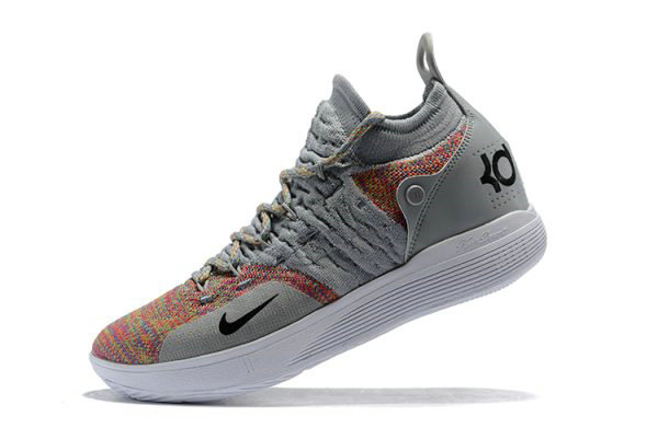 Cheap Wholesale New Nike KD 11 Cool Grey Multi-Color Mens Basketball Shoes