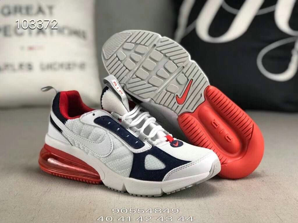 Wholesale Cheap Nike 270 V2 Future Zoom Sports White Red Navy Blue