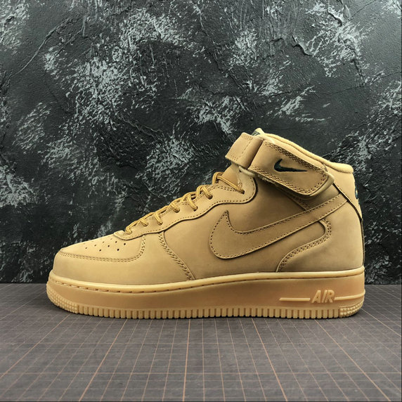 Wholesale Cheap Nike AIR FORCE 1 MID 07 715889-200 Womens Flax Outdoor Green Lin