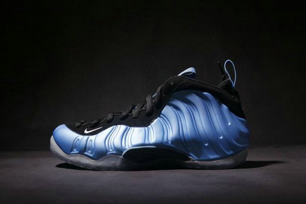 Cheap Wholesale Nike Air Foamposite One University Blue White-Black Basketball Shoes 314996-402