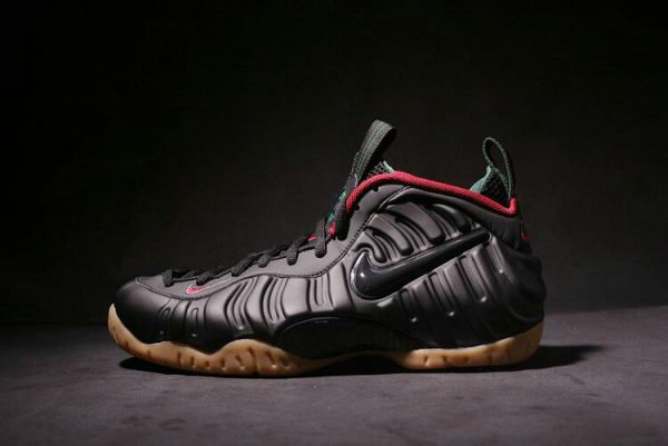 Cheap Wholesale Nike Air Foamposite Pro Black Gorge Green-Gym Red-Metallic Gold 624041-004