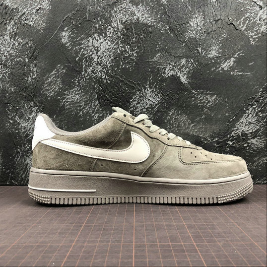Wholesale Cheap Nike Air Force 1 07 Womens AA1118-006 Grey Pig Eight Gris Cochon