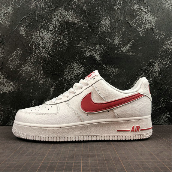 Wholesale Cheap Nike Air Force 1 Upstep Womens AO2423-102 White Red Blanc Rouge