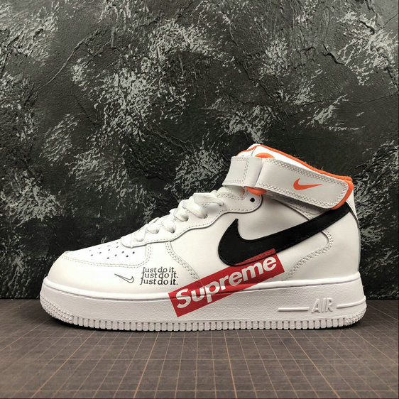 the latest 7de10 2d3eb Wholesale Cheap Nike Air Force 1 x SUPREME Womens Just Do It AQ8650-100  White