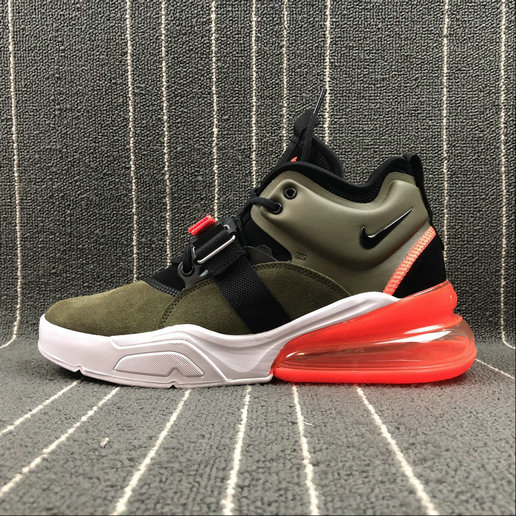 Wholesale Nike Air Force 270 AH6772-200 ArmyGreen White Orange