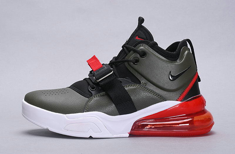 Wholesale Nike Air Force 270 Black Gray Red