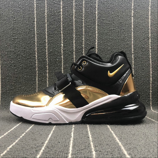Wholesale Nike Air Force 270 CT16 QS AT5752-700 Gold Black White