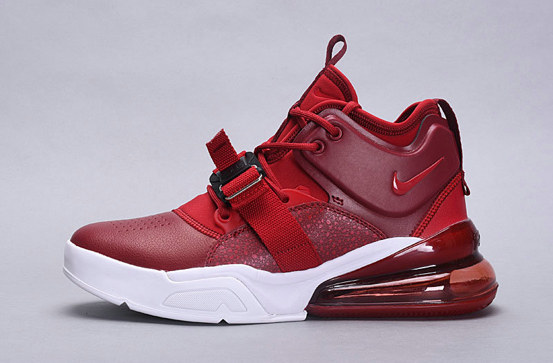 Wholesale Nike Air Force 270 Deep Red White
