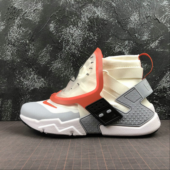 Wholesale Cheap Nike Air Huarache Gripp QS AT0298-100 Sail Team Orange White Voile Blanc Equipe Orange