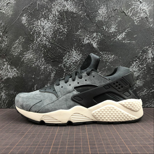 Cheap Wholesale Nike Air Huarache Run ULTRA 704830-016 Anthracite Blanc Light Bone Noir Clair