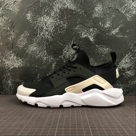 Cheap Wholesale Nike Air Huarache Run ULTRA 847568-010 Black Barely Rose White Noir Blanc A Peine Rose