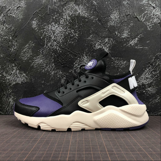 Cheap Wholesale Nike Air Huarache Run ULTRA 875842-302Black Purple White Noir Violet Blanc