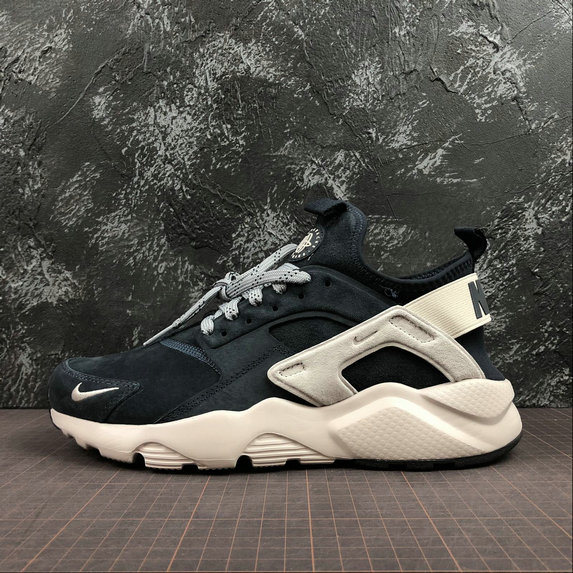 Wholesale Cheap Nike Air Huarache Run Ultra Mens Womens 829669-402 Blue Grey White Black Grey Gris Blanc