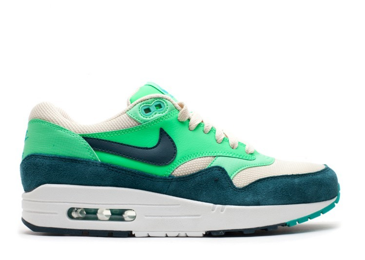 Cheap Wholesale Nike Air Max 1 Essential Mens Trainers Atomic Green 537383-230 Birch Dark Atomic Teal - Poison Green - Atomic Teal