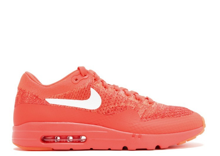 Cheap Wholesale Nike Air Max 1 Ultra Flyknit MenS Shoe 843384-601 Bright Crimson White-University Red
