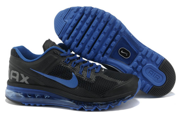 Nike Air Max 2013 Womens Running Shoe Black Royalblue