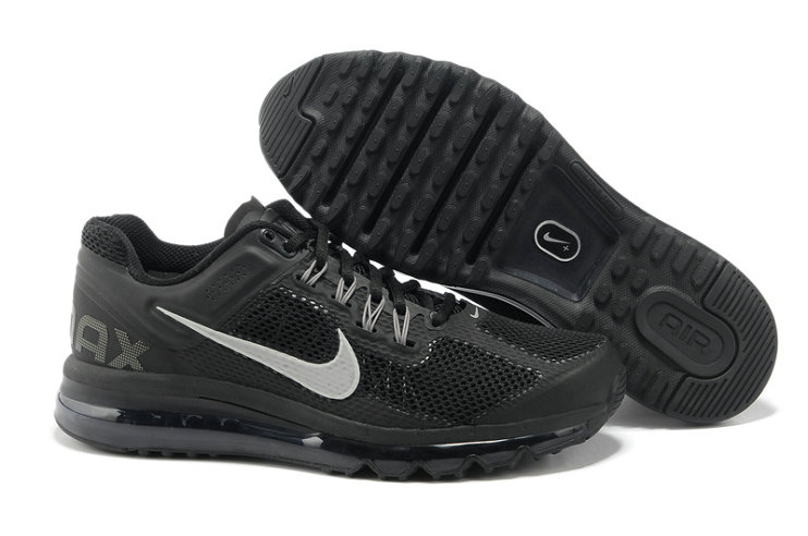 Nike Air Max 2013 Womens Running Shoe Black Silver