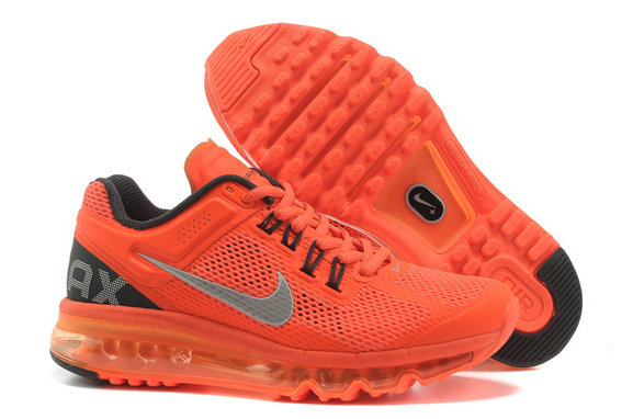 Nike Air Max 2013 Womens Running Shoe Orange Black Gray
