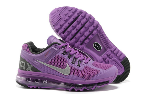 Nike Air Max 2013 Womens Running Shoe Purple Silver Gray