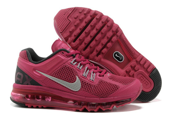 Nike Air Max 2013 Womens Running Shoe Wine Black Gray