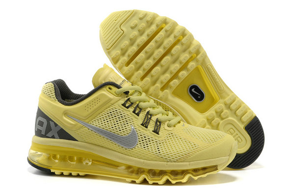 Nike Air Max 2013 Womens Running Shoe Yellow Black Gray