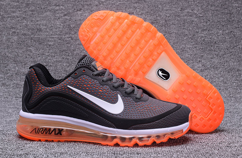 Nike Air Max 2017 Orange Grey Black 898013-120 Cheap Wholesale Air Max