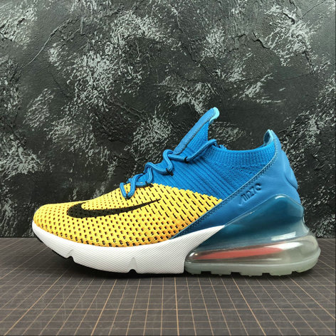 Cheap Wholesale Nike Air Max 270 Flyknit Dark Blue Brown Black