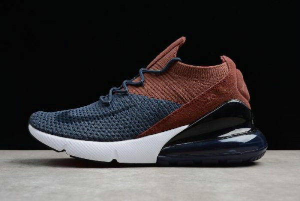 57eac5e5d3bc Cheap Wholesale Nike Air Max 270 Flyknit Dark Blue Brown Black White Womens  Size AO1023-