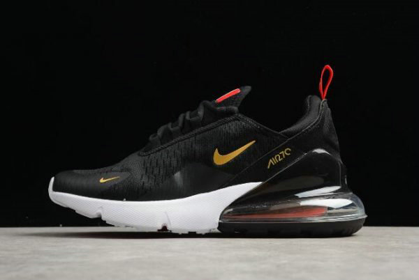 Cheap Wholesale Nike Air Max 270 Flyknit FIFA World Cup Russia 2018 French Black Gold AH8050-117