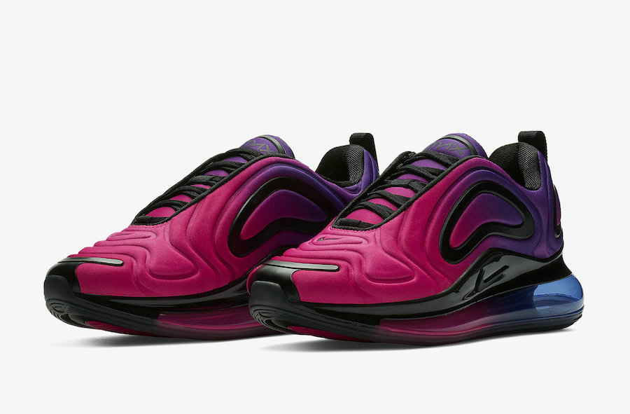 Wholesale Cheap Nike Air Max 720 Sunset Hyper Grape Black-Hyper Pink AR9293-500