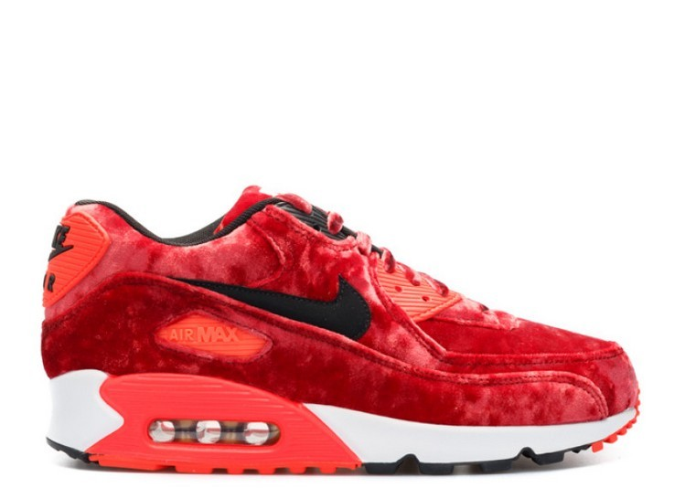 Cheap Wholesale Nike Air Max 90 25th Anniversary Red Velvet 725235-600 Gym Red Black-Infrared-Metallic Gold