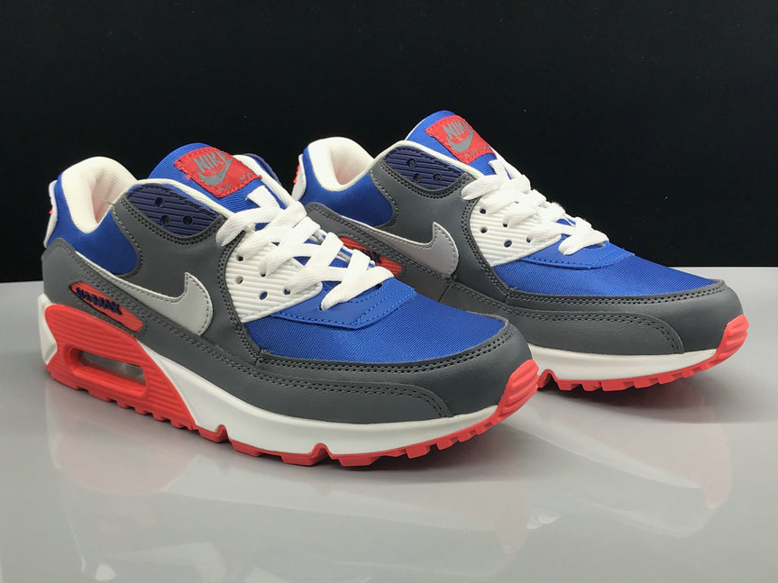 Wholesale Nike Air Max 90 Classic Blue Red Grey White