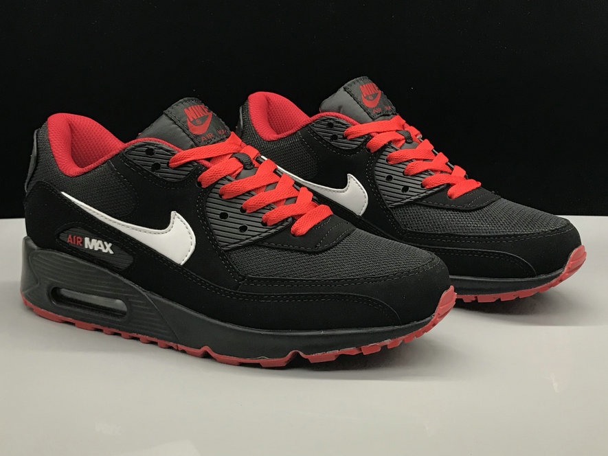 Wholesale Nike Air Max 90 Classic Red White Black