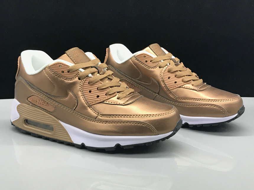 Wholesale Nike Air Max 90 Classic Rose Gold White