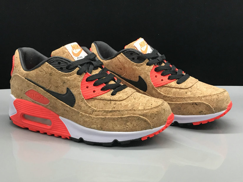 Wholesale Nike Air Max 90 Classic Wheat Red Black