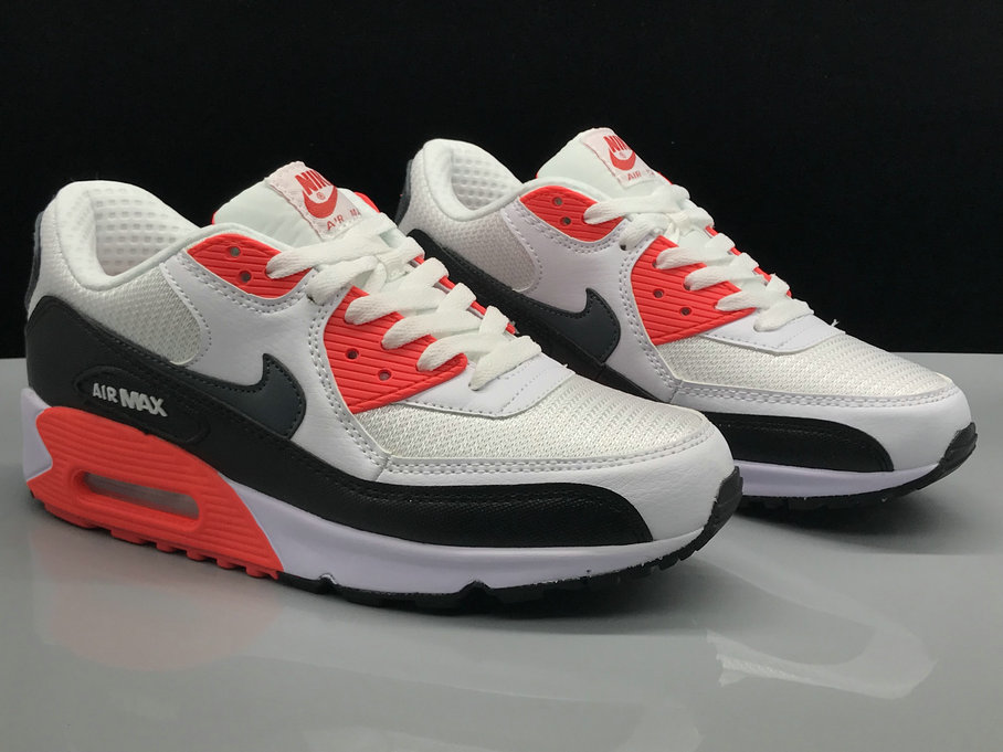 Wholesale Nike Air Max 90 Classic White Red Black