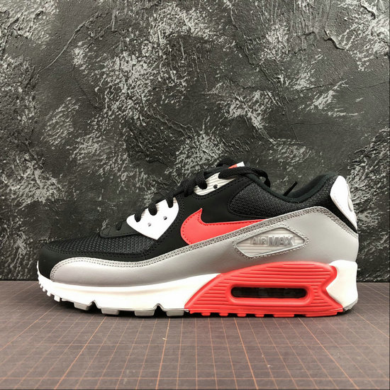 Wholesale Cheap Nike Air Max 90 Essential AJ1285-012 Wolf Grey Bright Crimson Black Gris Loup Noir Cramoisi Vif