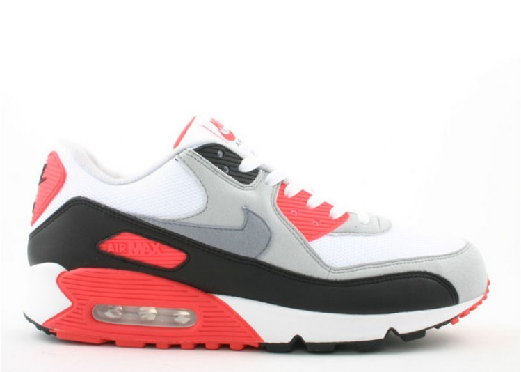 Cheap Wholesale Nike Air Max 90 Infrared 2008 Release 333806-101 White Cement Grey-Infrared-Black