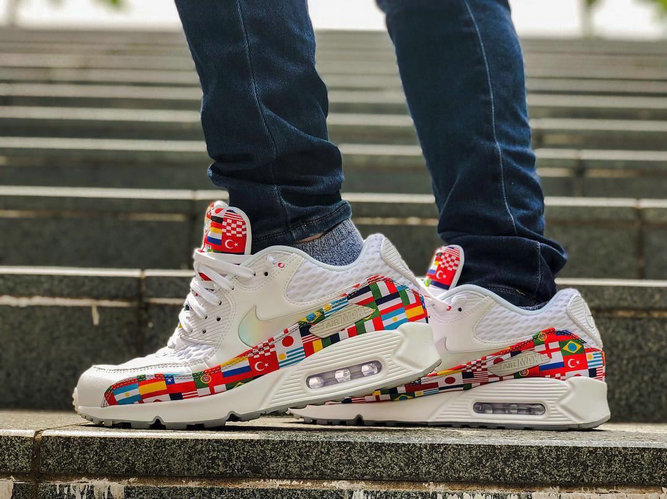 Wholesale Nike Air Max 90 Out Of The International Flag Pack Mens Womens