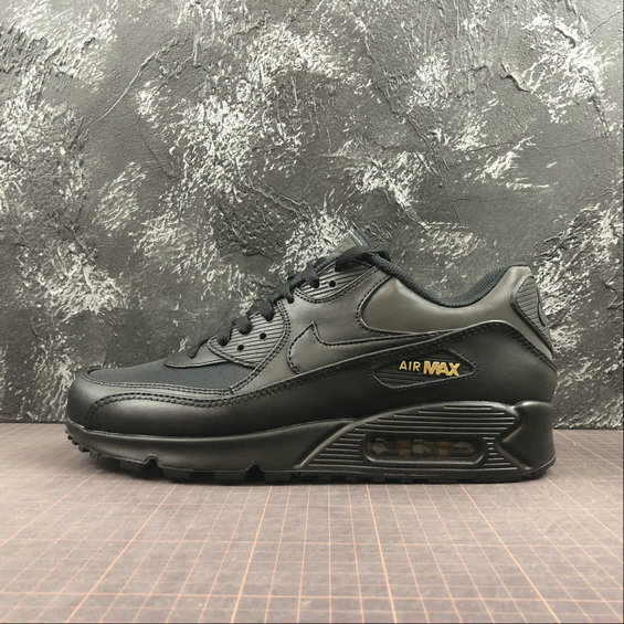 Wholesale Cheap Nike Air Max 90 PREMIUM 3M 700155-011 Black Metallic Gold Noir OR Metallique Noir