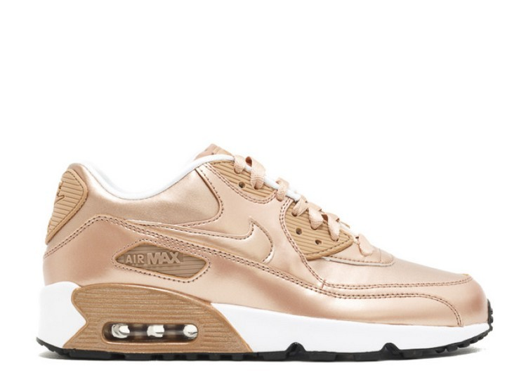 Cheap Wholesale Nike Air Max 90 Se Leather Gs Metallic Bronze 859633-900 Metallic Red Bronze