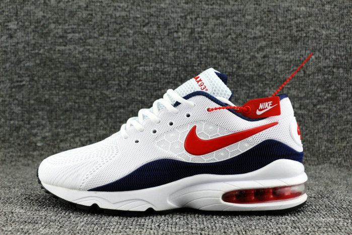 Wholesale Nike Air Max 93 OG Red White Navy Blue