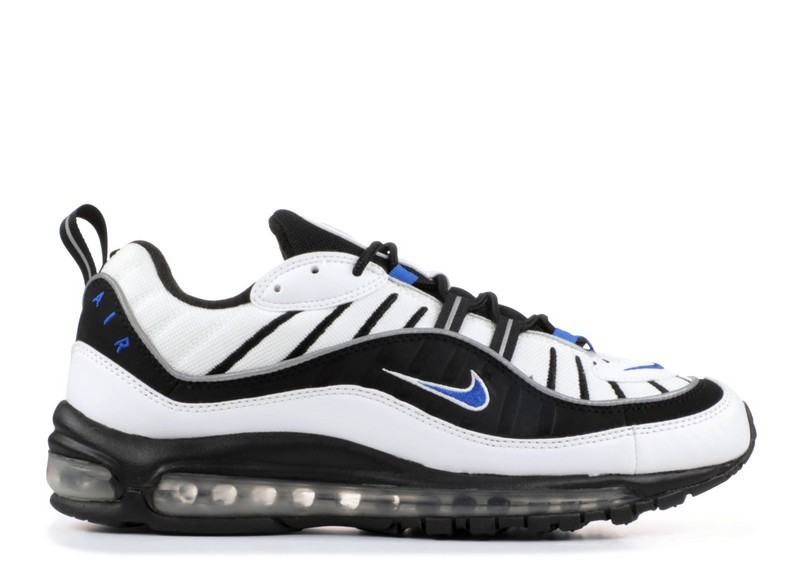 Cheap Wholesale Nike Air Max 98 640744-102 Hyper Cobalt Black Metallic Silver