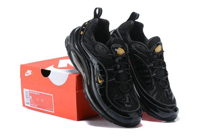 Wholesale Cheap Nike Air Max 98 Black Gold Noir 640744 080